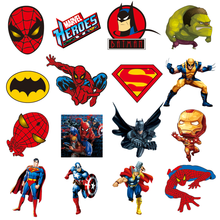 1Pcs Spiderman Captain America Sticker Marvel Avenger Hero Patch Iron On Boy T-shirt Thermal Transfer Heat Sensitive DIY Print(China)