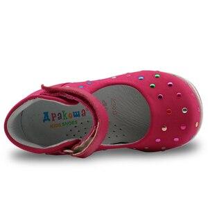 Image 5 - Apakowa crianças verão gênio sandálias de couro sapatos do bebê da criança meninas sandálias 2017 moda crianças meninas casuais sapatos planos
