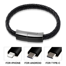 Sports Bracelet USB C Micro USB 8 Pin Charger Cable Phone Data Quick Charge