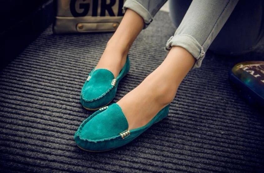apontado deslizamento em sapatos mulher ballet apartamentos