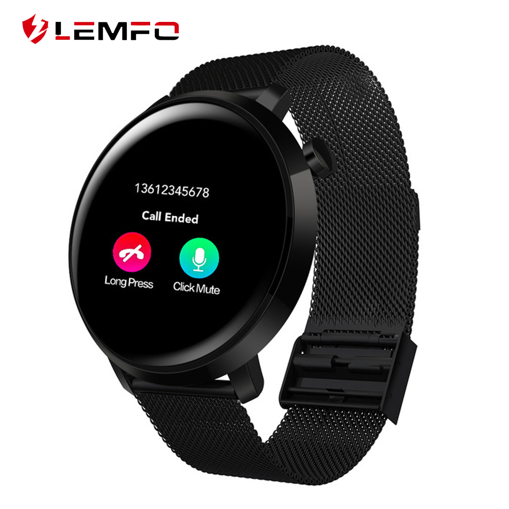 LEMFO C10 Smart Watch Men IP68 Waterproof Curved Screen Heart Rate Blood Pressure Monitor Incoming Call Reminder Smart Watches xanes a6s