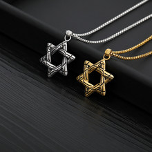 Mens Chain Judaica Israe Necklace pendant david Star Of David Collier Israel Necklace Gold Stainless Steel Necklace Jewelry Gift(China)