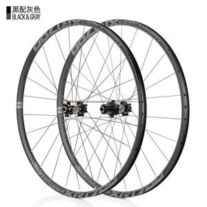 Image 2 - KOOZER XR1700 juego de ruedas para bicicleta de montaña, 26 y 27,5 pulgadas, rodamiento sellado de 6 garras, disco de bicicleta de eje pasante QR, radios DT 24H