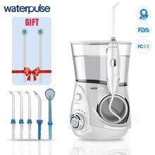Waterpulse v660 pro 7 bocais irrigador oral 12 pressão floss massagem dental água elétrica flosser irrigador oral dental água