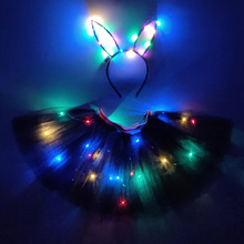 Light Up LED Girls Kids Clothes Shiny Star Tutu Skirt Princess Party Tutus Tulle Pettiskirt Children Ballet Dance Wear