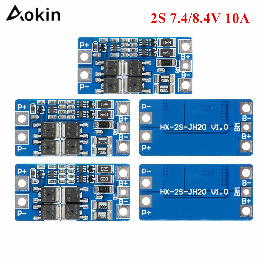 2S 10A 8.4V Lithium Battery Protection Board 7.4V With Balance Function Overcharge Overdischarge Protection