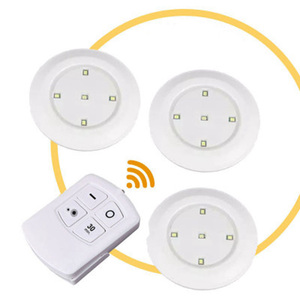 Image 1 - 5LEDs Lamps Dimmable LED Cabinet Light Battery Powered Wireless Touch Sensor Or Remote Controller Wardrobe Stairs LED Night Lamp