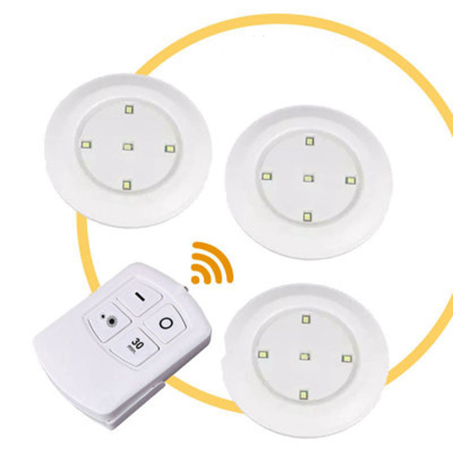5LEDs Lamps Dimmable LED Cabinet Light Battery Powered Wireless Touch Sensor Or Remote Controller Wardrobe Stairs LED Night Lamp