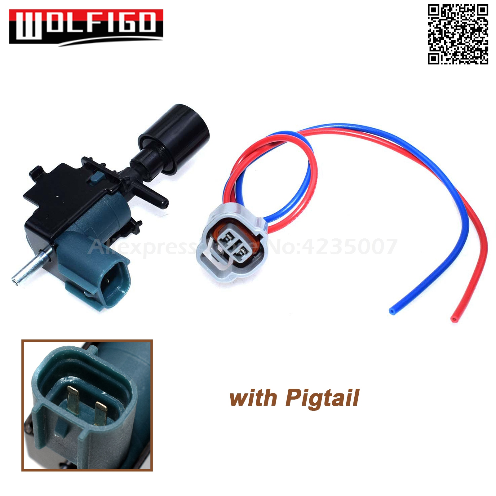 WOLFIGO 25860-74160, 25860-74050 Vacuum Switching Valve W/ Pigtail Wire For Toyota Avalon Camry 3.0 V6 9091012080,228207,PT1028