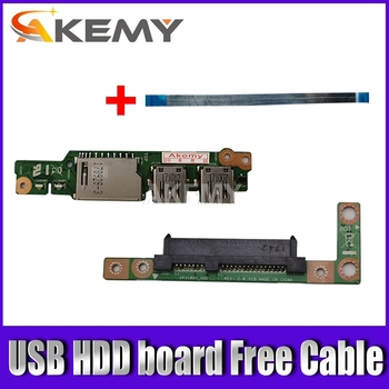 Free cable For Asus UX310UA UX310UV UX310UQ UX310UQk UX410UQK UX410U USB Audio usb board Laptop HDD Hard Disk Drive Board akemy x556uv rev 3 1 x556uj rev 2 0 hdd board for asus a556u f556u k556u fl5900u r556u vm590u hard disk board 100