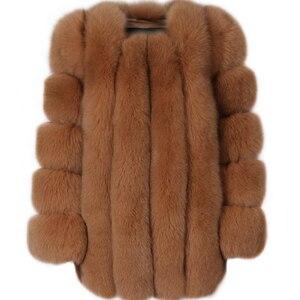 Image 1 - Futro damskie płaszcz z prawdziwego futra futro naturalne