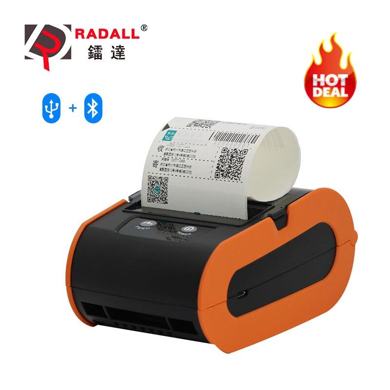 80mm thermo-belegdrucker Bluetooth Thermische Label Drucker Mini Tragbare Drucker Erhalt Bill Drucker für PC/Ipad/ handy