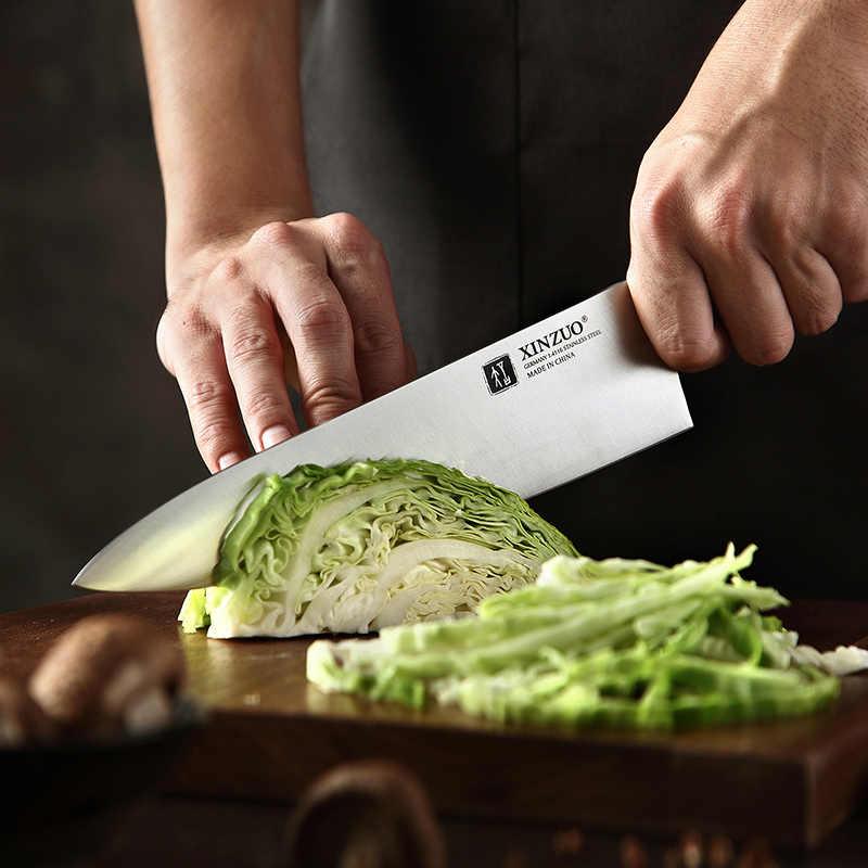 XINZUO 8.5 ''นิ้วมีดเชฟเยอรมัน 1.4116 สแตนเลสมีดครัวใหม่มาถึงอุปกรณ์ทำอาหารเครื่องมือ Ebony Handle