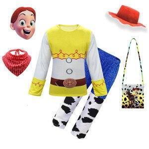 Juego de ropa de Carnaval Story 4 para niñas, disfraz de dibujos animados de Jessie para Halloween, disfraz para disfraces, Cosplay para niños, ropa elegante, atuendo para niños pequeños