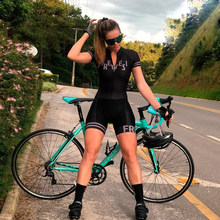 Summer Bike Cycling Jersey Clothing Women Triathlon Skinsuit Jumpsuit Breathable Bicyle Team Racing Uniform Outfit Kits Clothes