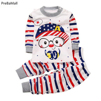 Newborn Baby Clothes Cotton Long Sleeve Infant Clothing Top+Pant 2PCS Cartoon Baby Boys Girls Clothing Unisex Dropshipping A0071 levi s baby boys newborn coulter pant