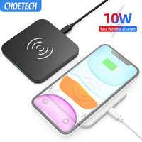CHOETECH Wireless Pad Caricabatterie Per Il Samsung S10 S9 S8 Nota 10 9 10W Veloce Wireless Pad di Ricarica per iPhone 11 Xs Max Xr X 8 8 Più