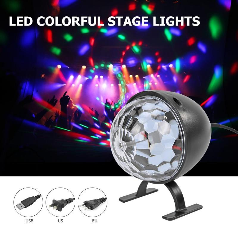 LED Crystal Magic Ball Stage Light KTV Bar Club Party Show DJ Disco Effect Lamp for Party Song and Dance Hall Mall Wedding image