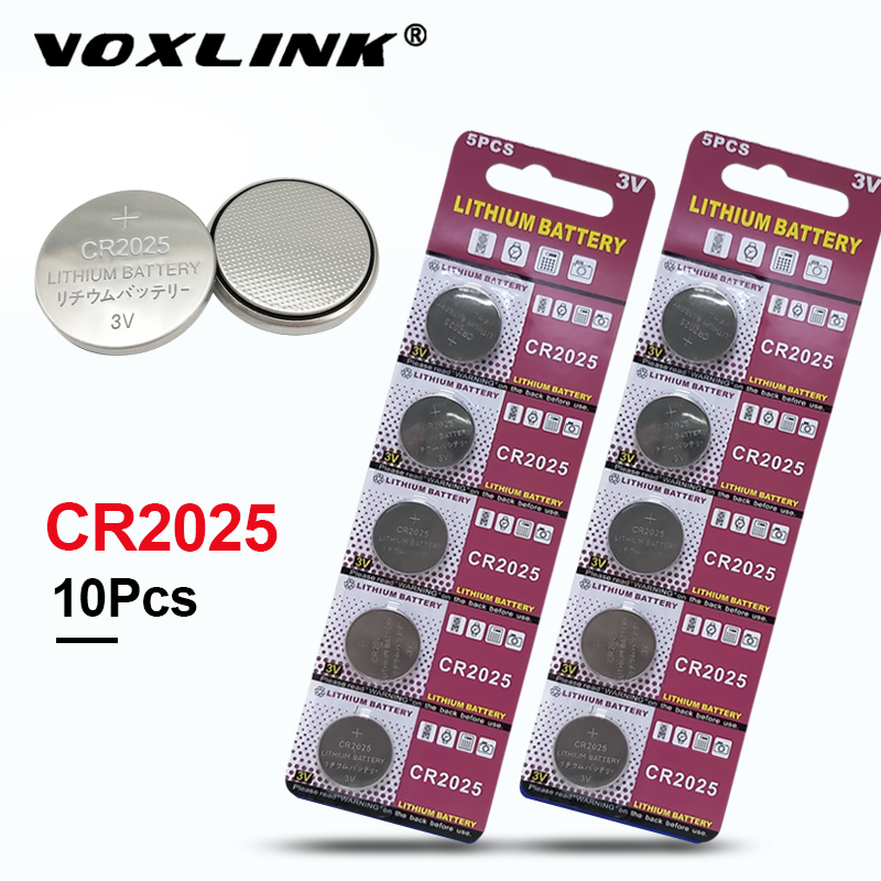 VOXLINK <font><b>cr2025</b></font> original brand new <font><b>battery</b></font> 3v button cell coin <font><b>batteries</b></font> for Toys watch computer toy remote control 10Pcs <font><b>cr2025</b></font> image