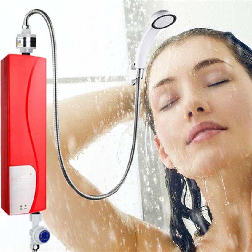 3000 Вт Электрический водонагреватель Tankless мгновенный Душ в помещении Кухня Ванная комната нагрева воды ЕС плюс