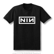 T-shirt à manches courtes pour hommes, en coton, Slim et à la mode, avec clous imprimés de neuf pouces, 2020