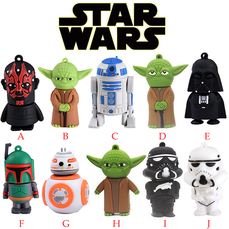 Jaster  Wars Star Yoda Darth Vader Pendrive 4G 8G 16G 32G 64G Usb 2.0 Usb Flash Drive Pendrive