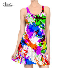 Женское разноцветное платье без рукавов cloocl Повседневные