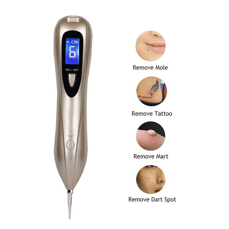 Neueste Laser Plasma Stift Maulwurf Entfernung Dark Spot Remover LCD Hautpflege Punkt Stift Haut Warze Tag Tattoo Entfernung Werkzeug schönheit Pflege