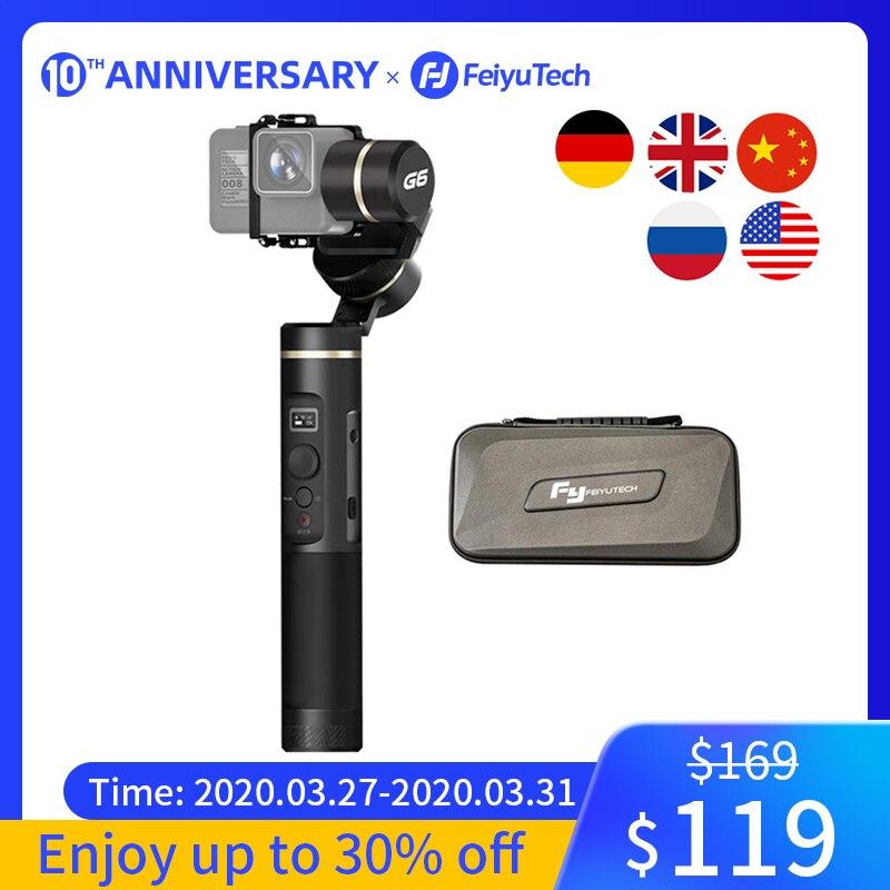 FeiyuTech G6 stabilisateur de caméra à cardan portable pour Gopro Hero 8 7 6 5 Sony RX0 Xiao Yi 4k caméra d'action anti-éclaboussures