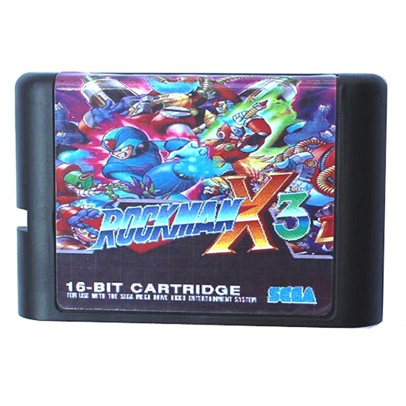 Rockman X3 for 16 bit Sega MD Game Card for Mega Drive for Genesis US PAL
