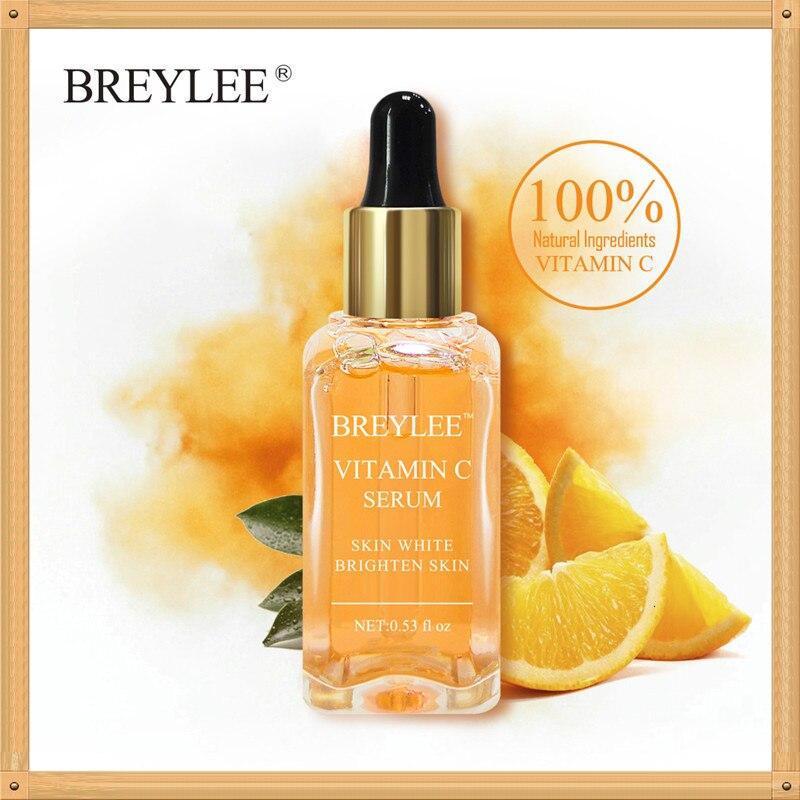 BREYLEE Vitamin C Whitening Serum Brighten Skin Face Skin Care Fade Dark Spots Freckle 100% Natural Ingredients Anti-aging Serum