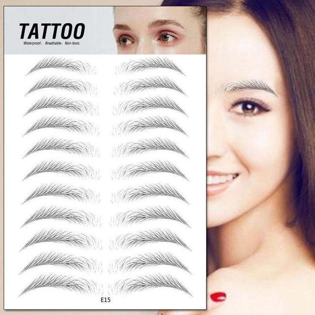 4D Hair-like Eyebrow Tattoo Sticker 4D Hair-like Authentic Eyebrows Waterproof Long Lasting Eye brows Styling Cosmetic Tool 1