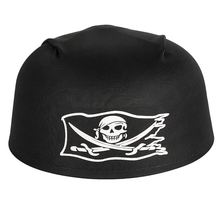Cycling Headscarf Round Pirate Double Knife Skull Hat Unisex Summer Hood Headband Running Riding Sports Cap Black Halloween Hat saf 2016 new unisex dressing up white skull pattern pirate bucket hat cap
