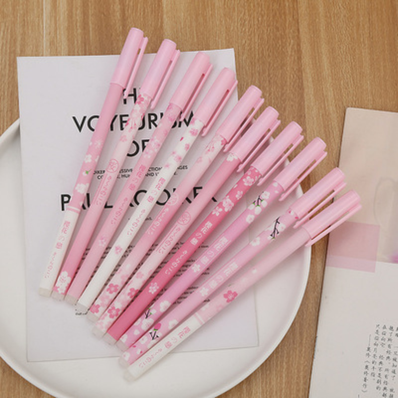 1pcs Sakura Erasable Pen 0.5mm Creative Student Gel Pens Novelty Stationery Cute Pens Black Signature Pen Kawaii School Supplies