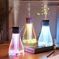 500ml Mini Wishing Flasche Luftbefeuchter 2 Modus USB Rechargable Handheld Gesichts Dampfer Haushalt Luftbefeuchter mit 7 Farben Led leuchten-in Luftbefeuchter aus Haushaltsgeräte bei
