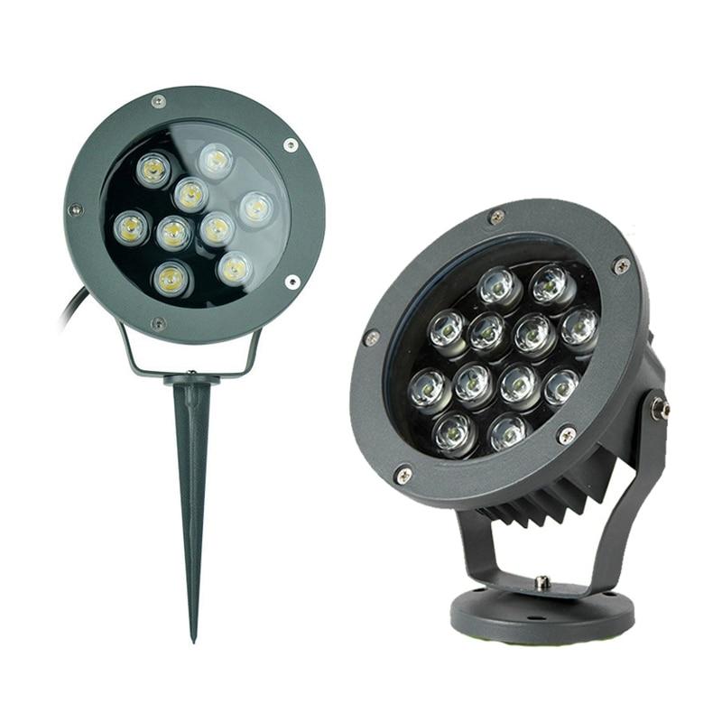 Lampadaire LED encastrable dans le sol, imperméable conforme à la norme IP67, éclairage d'extérieur, idéal pour une pelouse, 6/9/12/15/18/24W, ac 220v