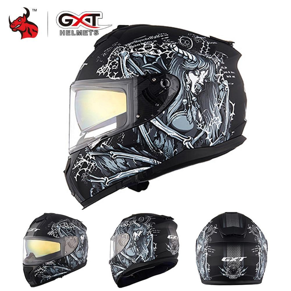 GXT New Motorcycle Helmet Men Full Face Helmet Moto Riding ABS Material Adventure Motocross Helmet Motorbike DOT Certification