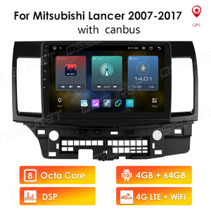 4G + 64G Android 10 For Mitsubishi Lancer 10 2007 - 2013 Car Radio Multimedia Video Player Navigation GPS 2 din NON dvd 4G LTE(China)