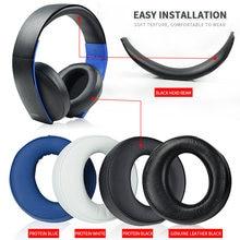 Oreillettes noires originales, coussinets antibruit pour SONY Gold Wireless PS3 PS4 7.1 virtuel Surround casque (L + R)
