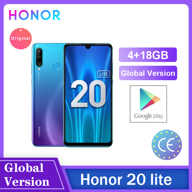Honor 20 Lite 4 Гб 128 ГБ глобальная версия спереди 32MP Kirin 710 Octa Core Android 9,0 Face ID мобильный телефон 24MP сзади Камера Чехол для мобильного телефона