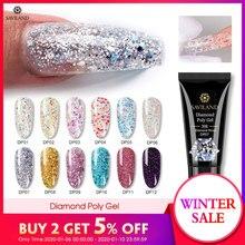 SAVILAND Color Diamond Polygel Glitter UV Nail Gel Builder