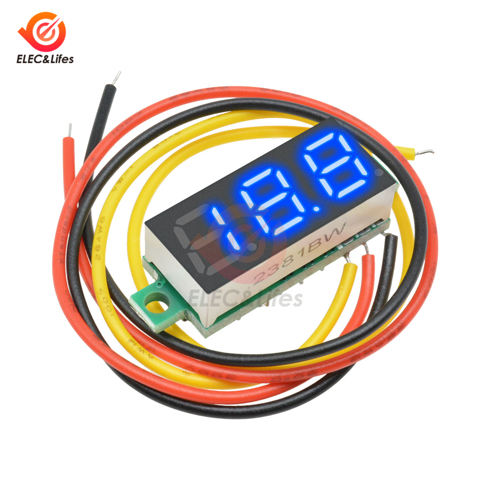 """0.56/"""" DC4.5//4.7//5~30V LED Digital Voltmeter Panel Accurate Meter 3 Wire"""