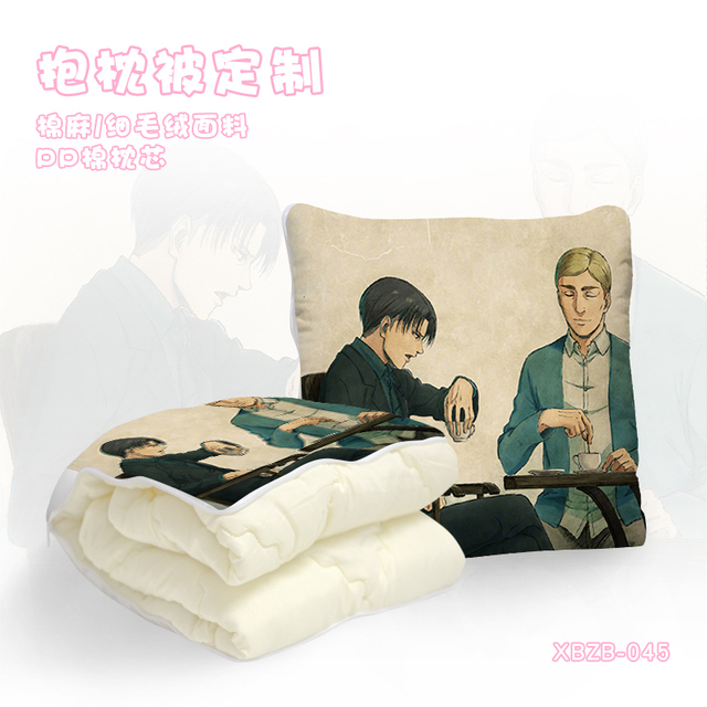Attack on Titan  Anime Customized Foldable Quilt Summer Decoration Bed Home Throw Pillow Air Condition Blankets Unisex NEW