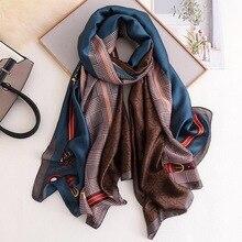 Classic women silk scarf female scarves ladies beach