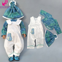 "Doll clothes pants flamingo romper clothes for baby doll wear sets for 18"" new born baby doll accessories toys wear(China)"