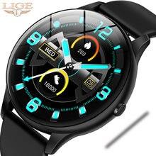 Водонепроницаемые спортивные Смарт часы lige для мужчин с пульсометром