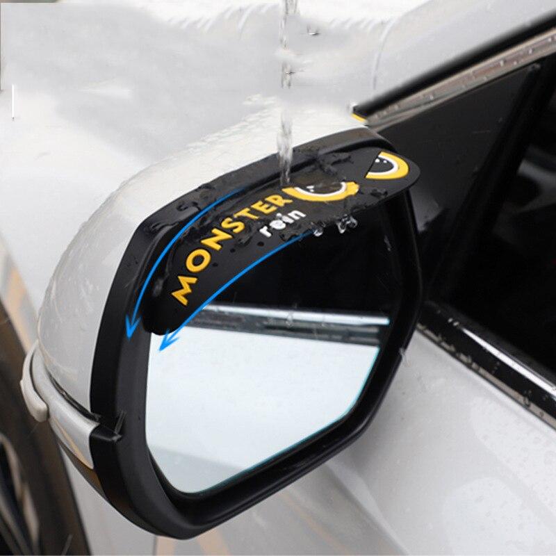2PC/Set Car Rearview Mirror Rain Eyebrow Visor Auto Mirror Rain Eyebrows Car Side Mirror Visor Shade Rain Shield Car Accessories