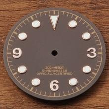 Corgeut 30,5 мм кофейный циферблат подходит Miyota 8205/8215, DG2813/3804 механизм