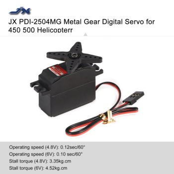 JX PDI-2504MG 4.8V-6V 4KG Metal Gear Digital Core Servo for RC 450 500 Helicopter Fixed-wing Airplane Parts hz rc servo tower pro mg92b digital metal gear metallgetriebe 3 5kg torque for model plane jetrc airplane rc helicopter parts