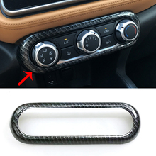 For Nissan Kicks 2016 2017 2018 Accessories ABS Plastic Carbon Fiber Car Air Conditioner Switch Panel Cover Trim Car Styling new for nissan 200sx s14 s14a silvia carbon fiber sr20 sr20det oem engine coil plug cover car accessories car styling
